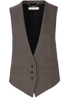 Chloé Woman Two-tone Wool-blend Vest Anthracite