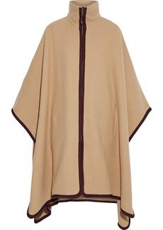 Chloé Woman Wool And Cashmere-blend Cape Camel