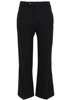 Chloé Woman Wool-blend Kick-flare Pants Black
