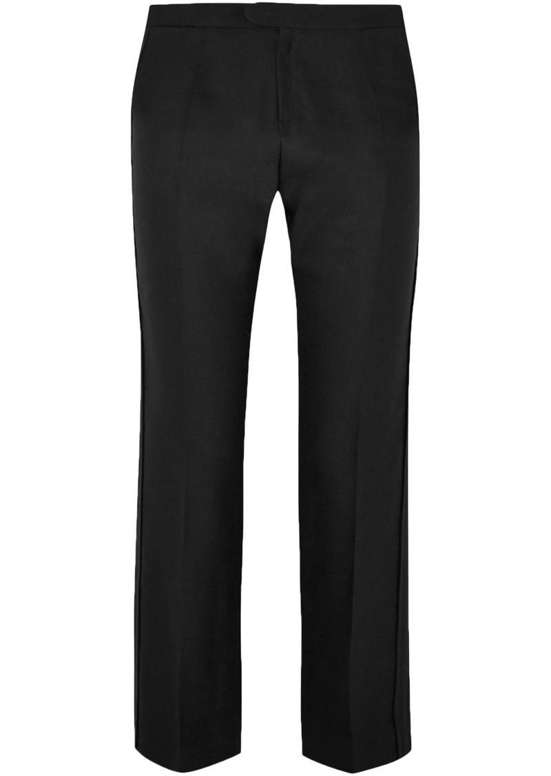 Chloé Woman Wool-blend Straight-leg Pants Black