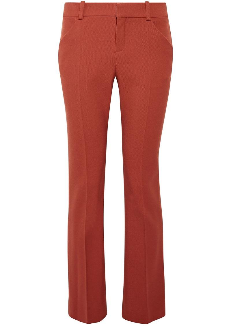Chloé Woman Wool-blend Twill Straight-leg Pants Brick