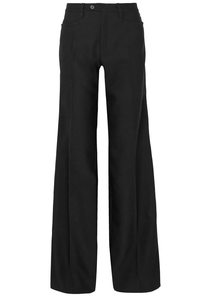 Chloé Woman Wool-blend Twill Wide-leg Pants Black