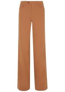 Chloé Woman Wool-blend Twill Wide-leg Pants Camel