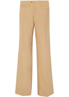 Chloé Woman Wool-blend Twill Wide-leg Pants Sand
