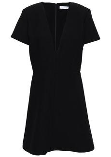 Chloé Woman Wool-crepe Mini Dress Black