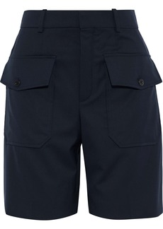 Chloé Woman Wool-twill Shorts Midnight Blue