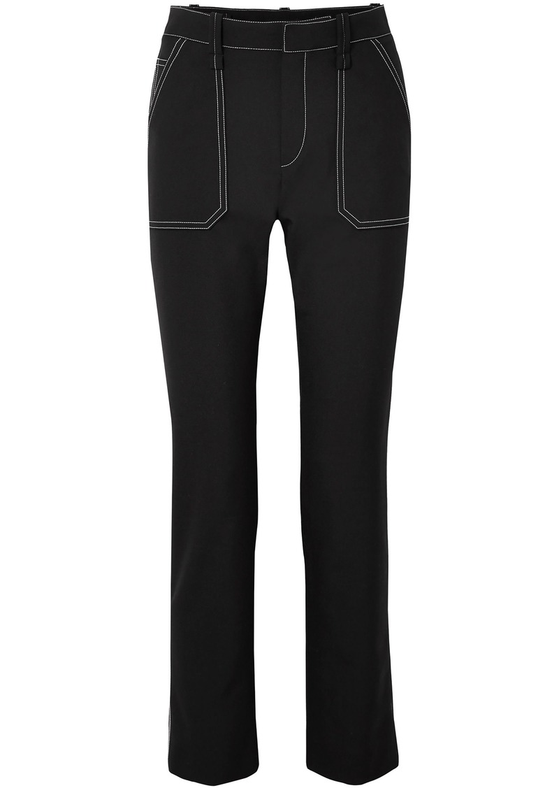 Chloé Woman Woven Slim-leg Pants Black