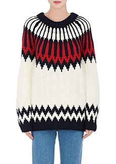 Chloé Women's Abstract-Pattern Wool Sweater