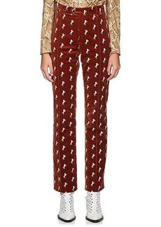 Chloé Women's Archival Embroidery Velvet Trousers