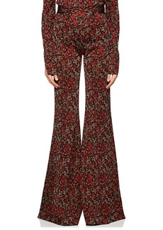 Chloé Women's Baroque Metallic Knit Flared Pants