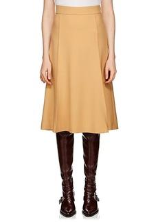 Chloé Women's Basket-Weave Wool Midi-Skirt