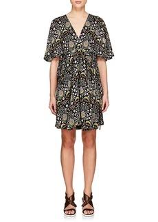 Chloé Women's Blossom-Print Crepe Dress