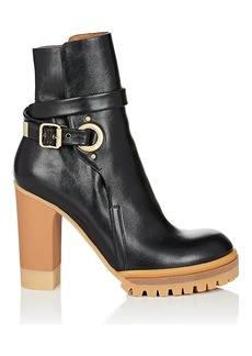 Chloé Women's Buckle-Strap Leather Ankle Boots