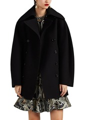 Chloé Women's Caban Wool Double-Breasted Peacoat