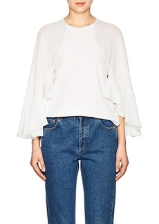 Chloé Women's Cape-Sleeve Silk Blouse