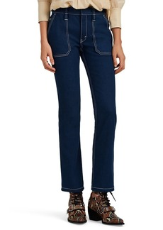 Chloé Women's Contrast-Stitched Slim Flared Jeans
