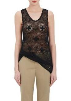 Chloé Women's Cotton-Blend Crochet & Lace Sleeveless Top