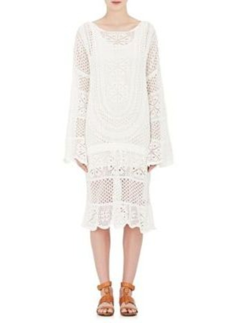 Chloé Women's Cotton-Blend Crochet Drawstring Dress