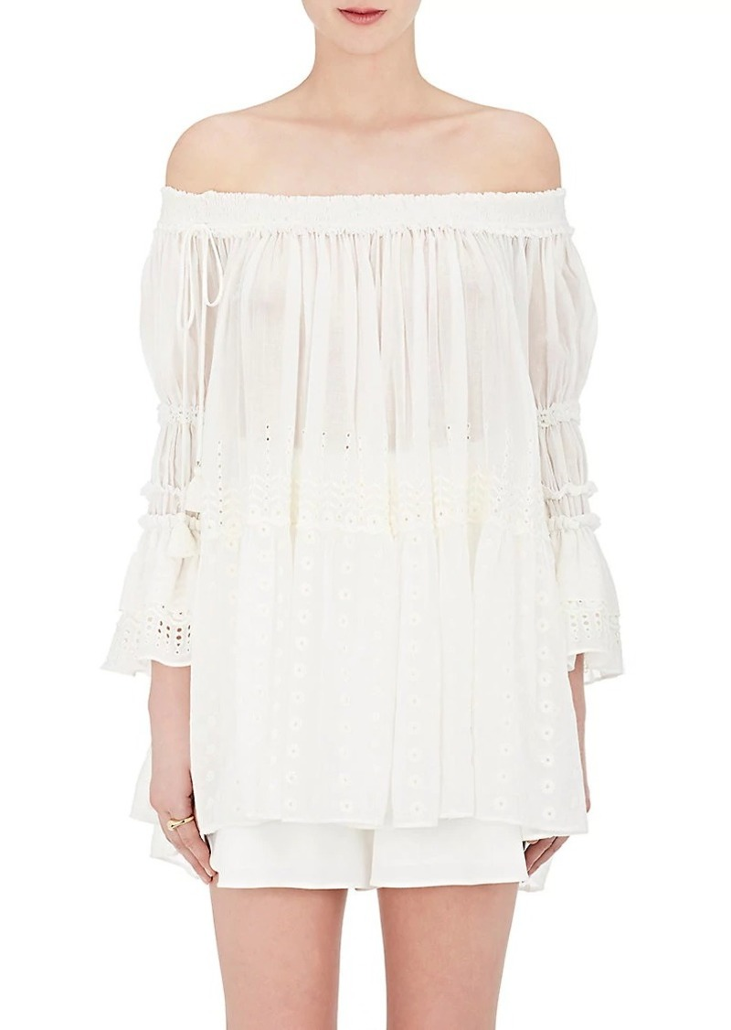 Womens Cotton Off-The-Shoulder Swing Blouse Chloé Eastbay Online Cheap New Styles Shop For Sale Sale Online gT9lt