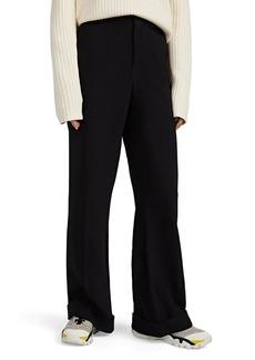 Chloé Women's Crepe Wide-Leg Cuffed Trousers