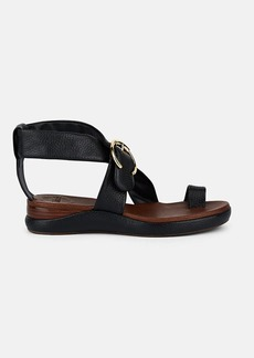 Chloé Women's Crisscross-Strap Leather Wedge Sandals