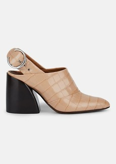 Chloé Women's Crocodile-Embossed Leather Slingback Pumps