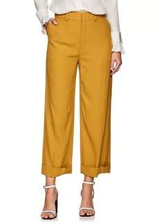 Chloé Women's Cuffed Wide-Leg Trousers
