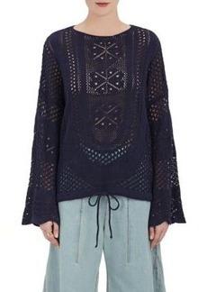 Chloé Women's Drawstring-Waist Cotton-Blend Sweater