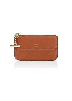 Chloé Women's Drew Leather Top-Zip Card Case
