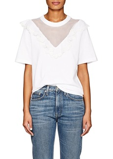 Chloé Women's Embellished Cotton Jersey T-Shirt