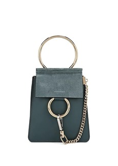 Chloé Women's Faye Mini Leather & Suede Bag - Blue