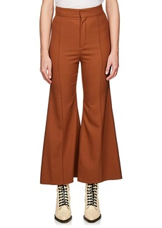 Chloé Women's Flared Stretch-Virgin Wool Trousers