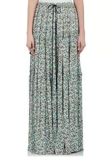 Chloé Women's Floral Crepe Maxi Skirt