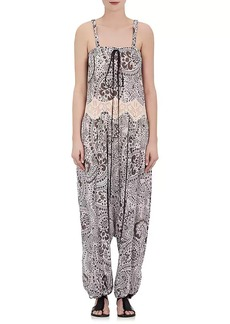 Chloé Women's Floral Drop-Rise Sleeveless Jumpsuit