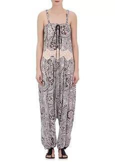 Chloé Women's Floral Drop-Rise Sleeveless Jumpsuit