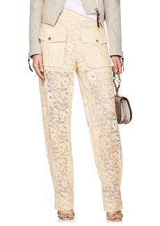 Chloé Women's Floral-Lace Baggy Trousers