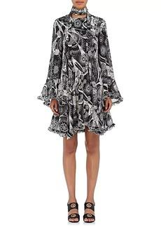 Chloé Women's Floral-Print Chiffon A-Line Dress