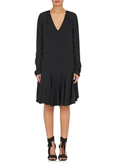 Chloé Women's Flounce Cady Drop-Waist Dress