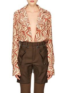 Chloé Women's Geometric Silk Blouse