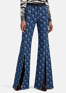 Chloé Women's Horse-Print Flared Jeans