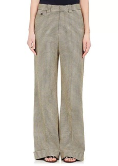 Chloé Women's Houndstooth Wide-Leg Trousers