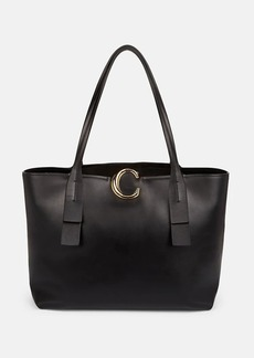 Chloé Women's Initial C Leather Tote Bag - Black