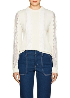 Chloé Women's Lace-Inset Stretch-Wool Sweater