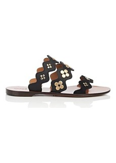 Chloé Women's Lauren Suede & Leather Slide Sandals
