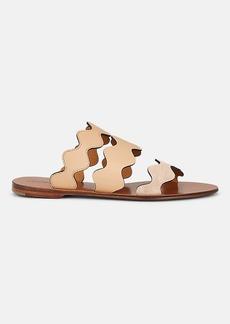 Chloé Women's Lauren Suede & Leather Slide Sandals