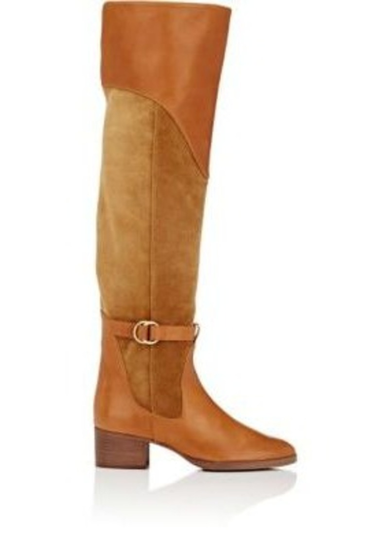 38f76bd8cf2 On Sale today! Chloé Chloé Women s Leather   Suede Over-The-Knee ...