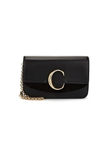 Chloé Women's Leather & Suede Shoulder Bag - Black