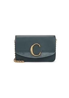 Chloé Women's Leather & Suede Shoulder Bag - Blue