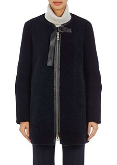 Chloé Women's Leather-Trimmed Shearling Coat