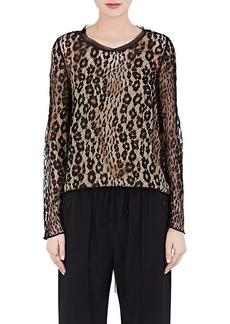 Chloé Women's Leopard-Pattern Lace Blouse